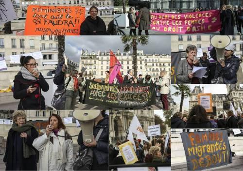 solidarité avec les femmes exilées