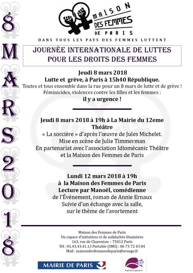 Mdf de Paris 8 mars 2018