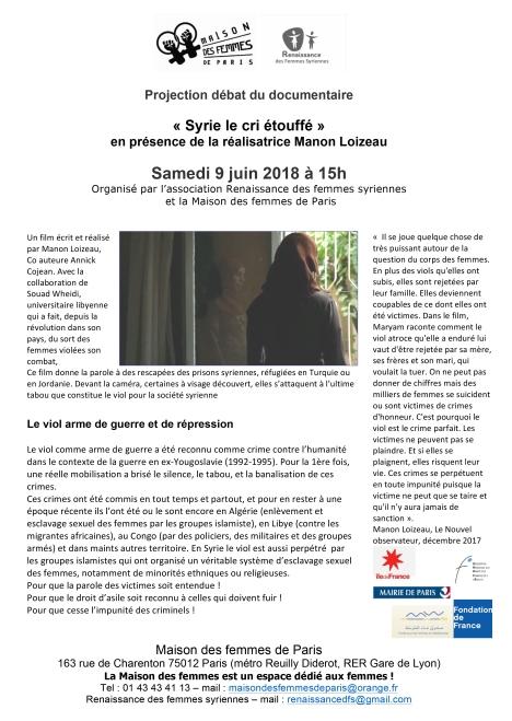 Projection débat syrie